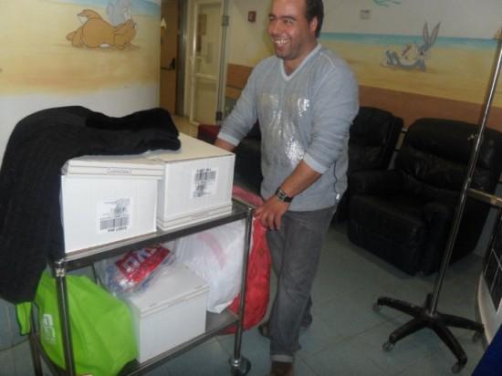 زيارة لقسم السرطان في حيفا